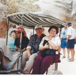Dwight and Jeanne on a Petra buggy ride